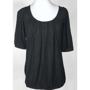 Olivia Moon Black Knit Top Women's Small